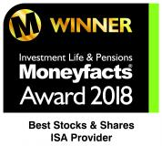 Moneyfacts 2018 Best Stocks & Shares ISA Provider