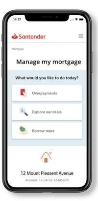 Image showing manage my mortgage mobile app screen
