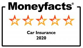 Moneyfacts 5 star car insurance 2020 logo