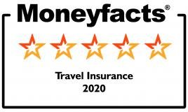 Moneyfacts 5 star award for Travel Insurance