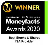 Moneyfacts Awards 2020 – Best Stocks and Shares ISA Provider award
