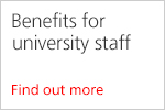 Benefits for university staff