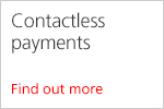 Contactless payments. Find out more