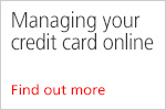 Managing your credit card online - video guide