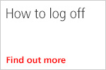 How to log off - video guide